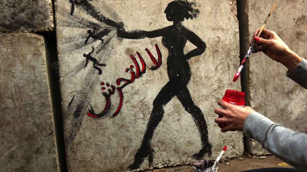 %22no to sex harassment%22 egypt graffiti_afp credit
